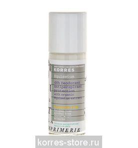 KORRES Дезодорант - антиперспирант с экстрактом хвоща  интенсивная защита для чувствительной кожи 48 часов (без отдушек)