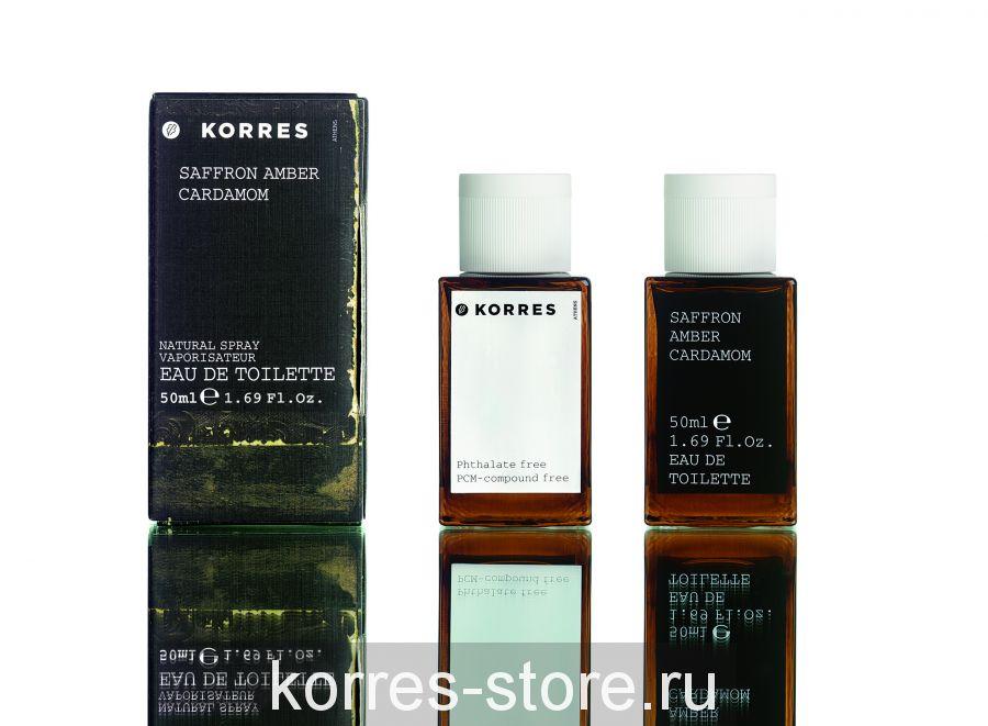 Korres Шафран, амбра, агаровое дерево, кардамон Туалетная вода для мужчин