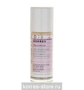 KORRES Дезодорант с экстрактом хвоща для очень чувствительной кожи 24 часа